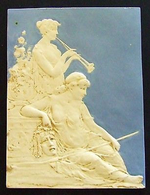 Northwestern Terra Cotta Tile Plaque Classical Jasperware