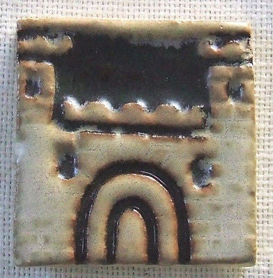 Old American Encaustic Tile Castle AETCO Arts & Crafts Art Pottery Antique Ohio
