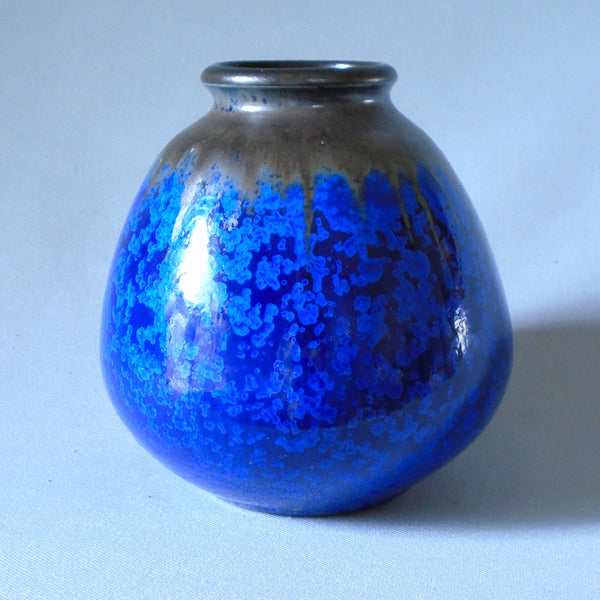 Wendelin Stahl Mid Century Modern Crystalline Cabinet Vase German Studio Pottery Bungalow Bill Antique