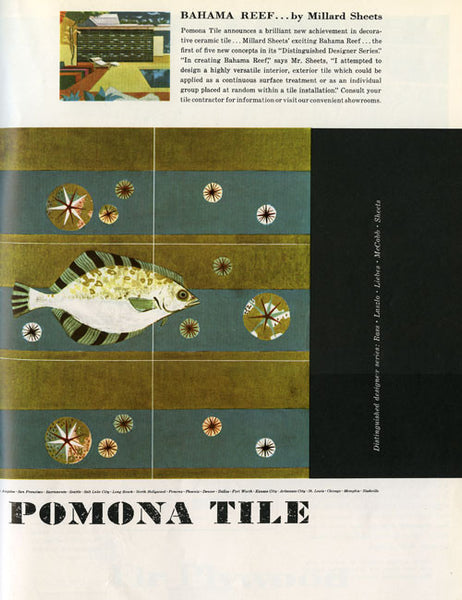 Distinguished Designer Series  Pomona Tile Millard Sheets Bahama Reef advertisement