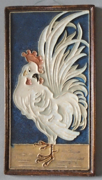 Royal Delft Rooster Tile Porcelyne de fles Bungalow Bill Antique