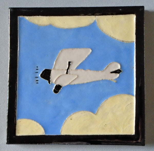 Franklin Tile Company Airplane Bungalow Bill Antique
