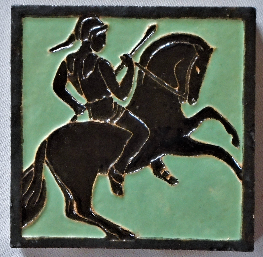 Franklin Tile Company Horseman Bungalow Bill Antique