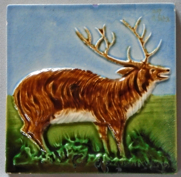Hamilton Tile Elk Bungalow Bill Antique