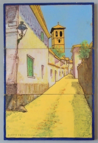 José Mensaque Sevilla Spain Tile Panel Bungalow Bill Antique