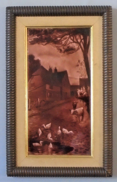 Sherwin Cotton Tile Farm Scene Bungalow Bill Antique