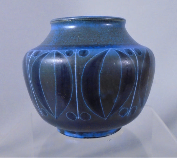 Thoms Keramik Blue German Mid Century Vase Bungalow Bill Antique
