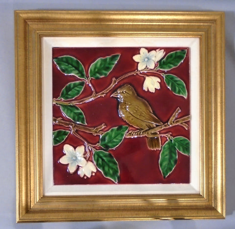 Minton Tile Bird in Tree at Bungalow Bill