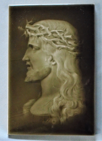 Sherwin & Cotton Tile Portrait of Jesus Bungalow Bill Antique
