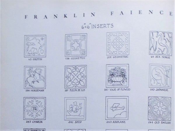Franklin Tile Company Catalog Bungalow Bill Antique