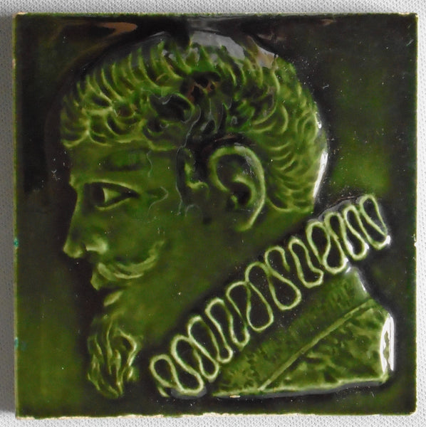 Old Bridge Portrait Tile of Sir Francis Drake Bungalow Bill Antique