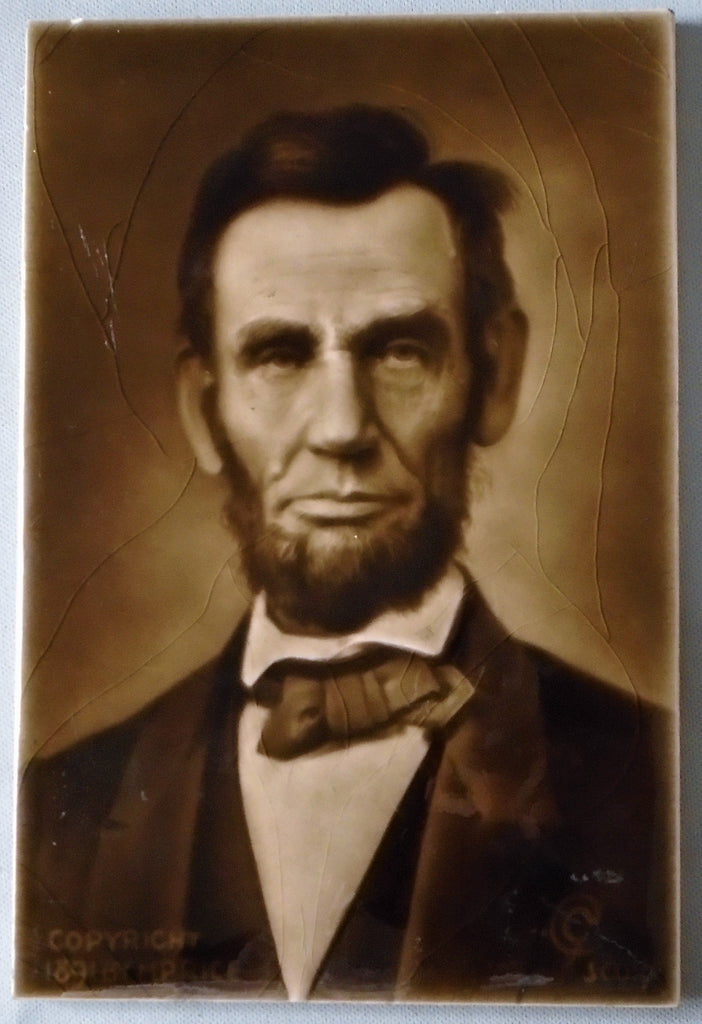 Sherwin & Cotton Tile Abraham Lincoln Bungalow Bill Antique