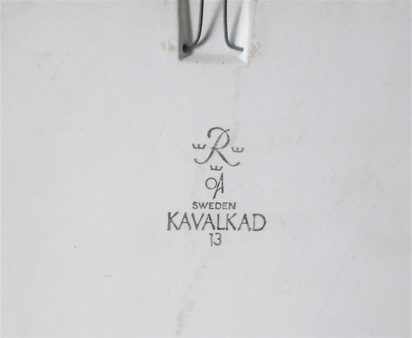 Rorstrand Kavalkad Bungalow Bill Antique Tile