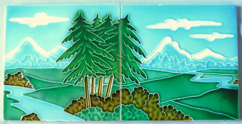 Le Glaive Tile Landscape Bungalow Bill Antique