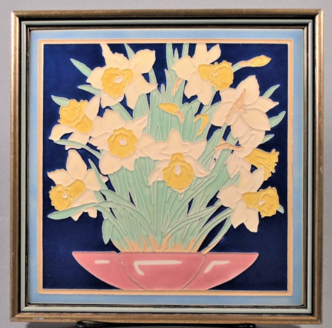 Art Deco Tile of Daffodils By Franklin American Olean