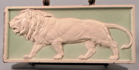 Beaux Arts Lion Tile Bungalow Bill Antique