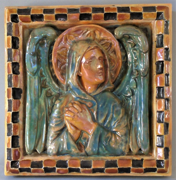 Angel Tile by AETCO American Encaustic Art Pottery