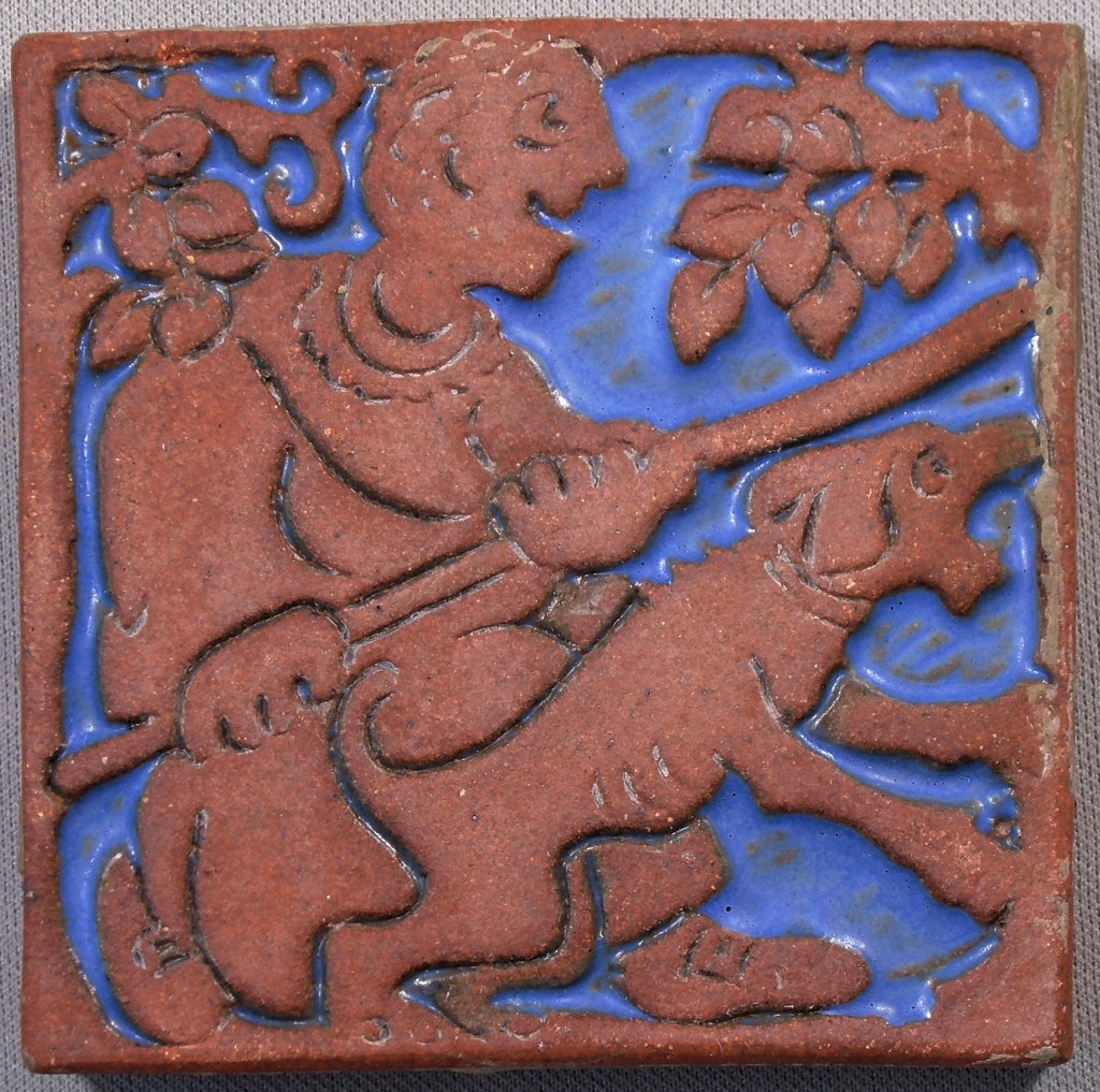 Batchelder California Art Tile Boy and His Dog