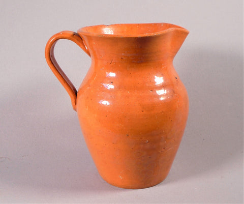 Jugtown Pottery Burnt Orange Pitcher North Carolina Folk Art