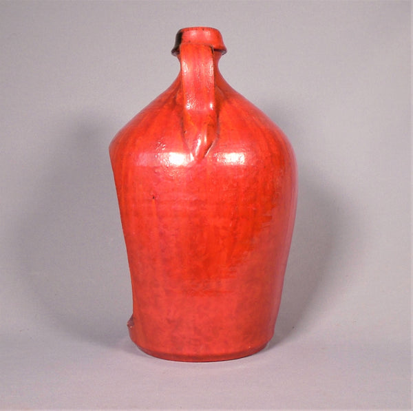 Chrome Red Candle Jug by Smithfield Pottery North Carolina Bungalow Bill