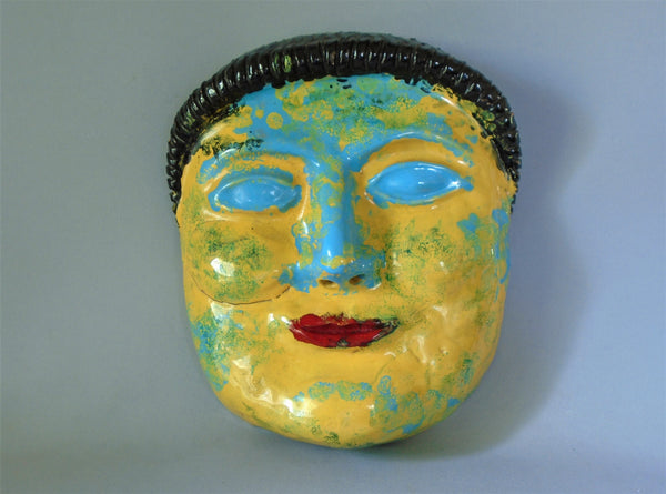 Pinca Grottaglie Italian Pottery mask Bungalow Bill Antique