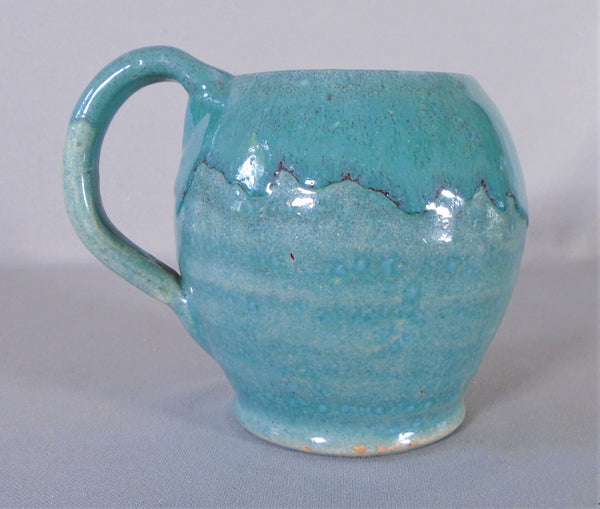 North State Carolina Pottery Chinese Blue Mug Southern Highlanders Bungalow Bill Antique