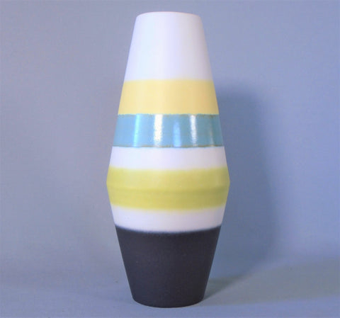 Amano Mid Century Striped West German Pottery Vintage Vase Bungalow Bill Anique