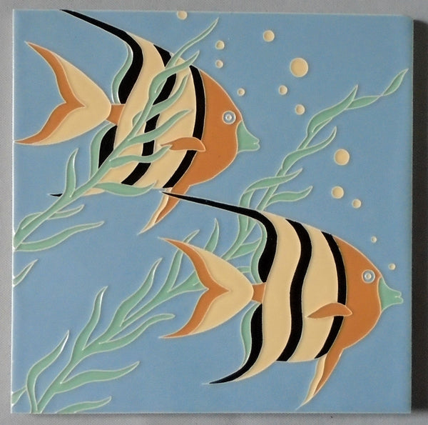 Mid Century Angel Fish Tile by American Olean Bungalow Bill Antique