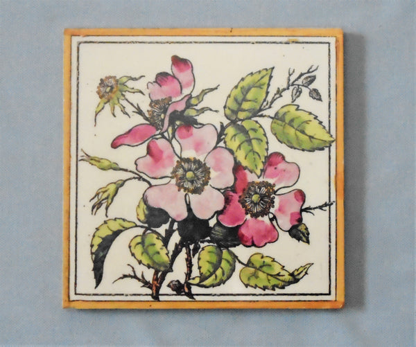 Maw Tile Roses Bungalow Bill Antique