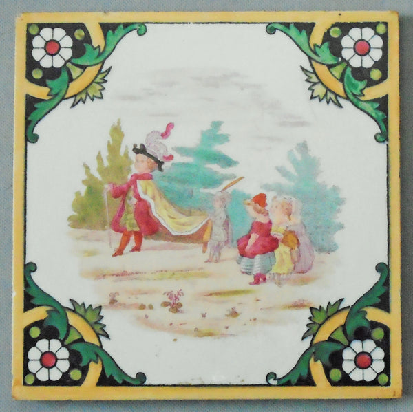 Minton Hollins Children's Games Bungalow Bill Antique