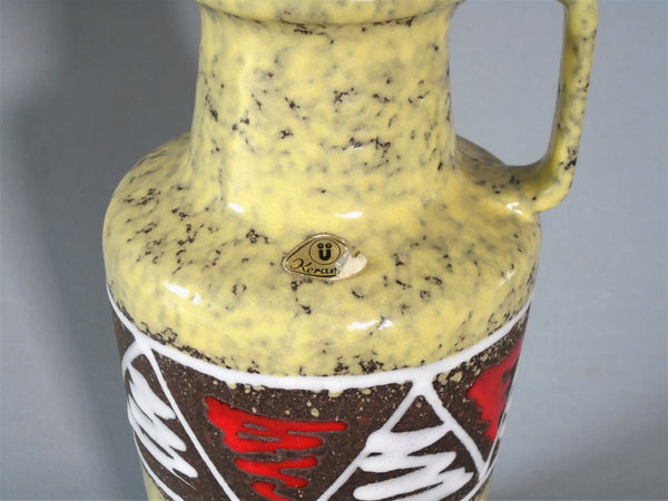 Vintage  Vase West German Pottery Ü-Keramik Üebelacker Bungalow Bill Antique