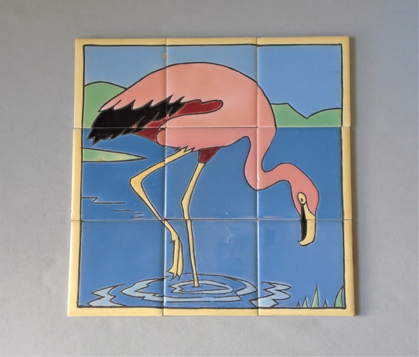 Mosaic Tile Company Pink Flamingo Bungalow Bill Antique