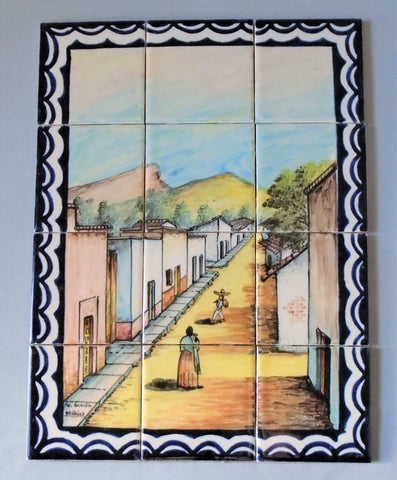 Vintage Mexican Talavera Tile Mural Bungalow Bill Antique