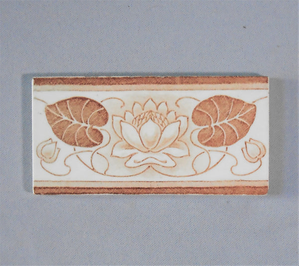 Le Glaive Art Nouveau Waterlily Border Tiles Bungalow Bill Antique