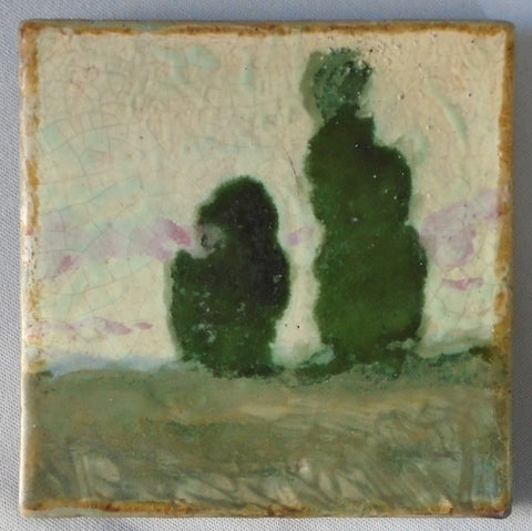 Charles Volkmar Studio Landscape Tile Bungalow Bill antique