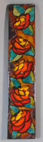 Mid Century Wall Tile by Ruscha Flower Plaque Bungalow Bill Antique