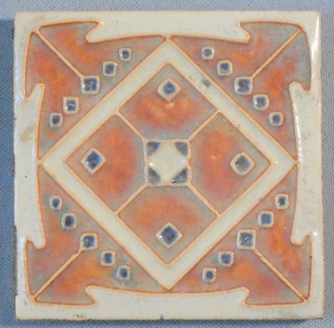 Antique Royal Delft Secessionist Tile Porceleyne de Fles Bungalow Bill Antique