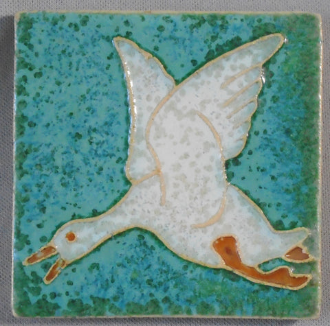 Royal Delft Flying Duck Tile Arts and Crafts Porceleyne de Fles Bungalow Bill Antique