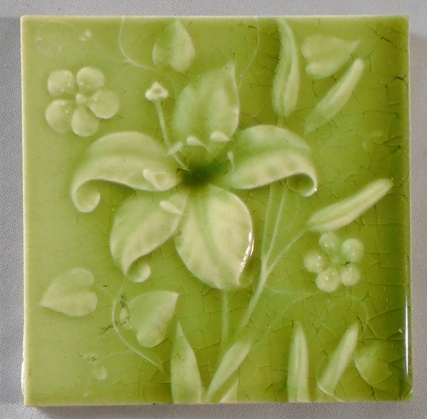AETCO American Encaustic Tile Fireplace Bungalow Bill Antique