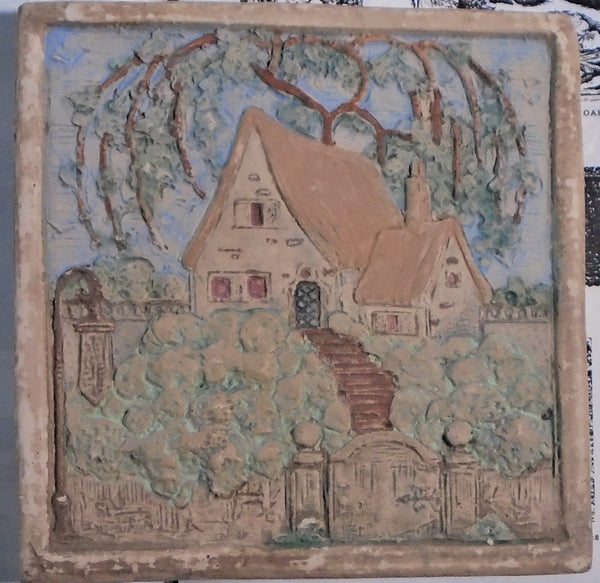 Muresque Tile English Cottage Bungalow Bill Antique