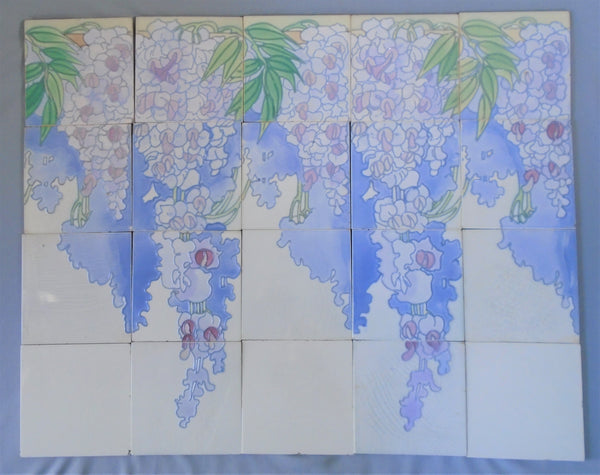 Le Glaive Tile Panel Wisteria Bungalow Bill Antique