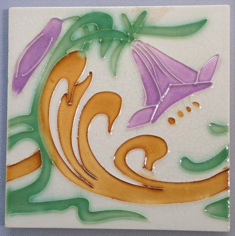 Le Glaive Art Nouveau Tile Bungalow Bill Antique