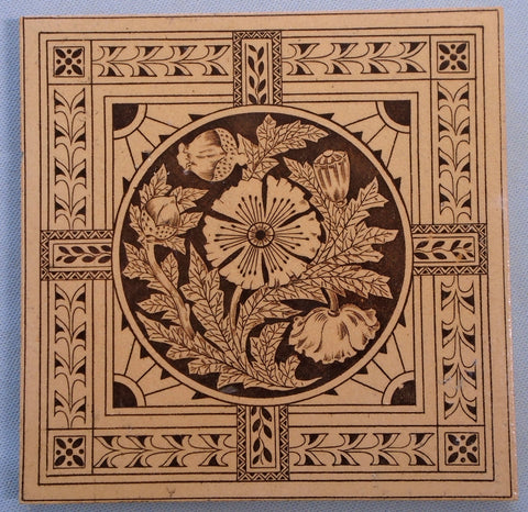 International Tile Co Brooklyn NY Poppy ITC BNY Bungalow Bill Antique