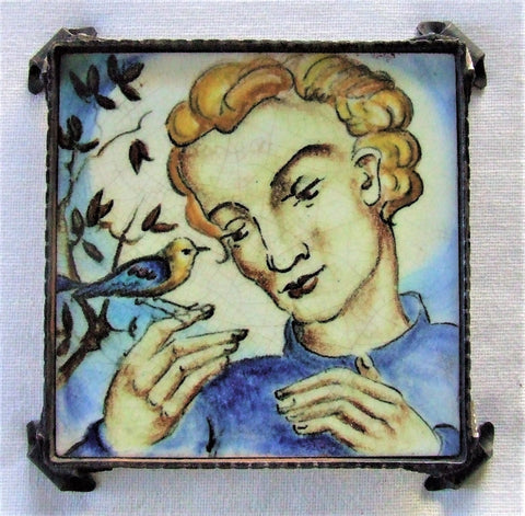 Fritz Hudler Tile German Art Deco