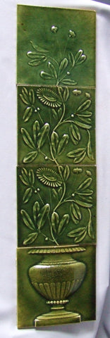 J & JG Low Art Tile Fireplace Panel