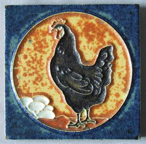 Royal Delft Tile Chicken Eggs Porceleyne Fles Arts & Crafts