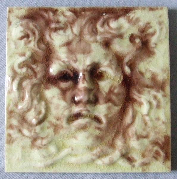by the International Tile and Trim Co of Brooklyn NY (1882 - 1888). Antique Tile North Wind Faces