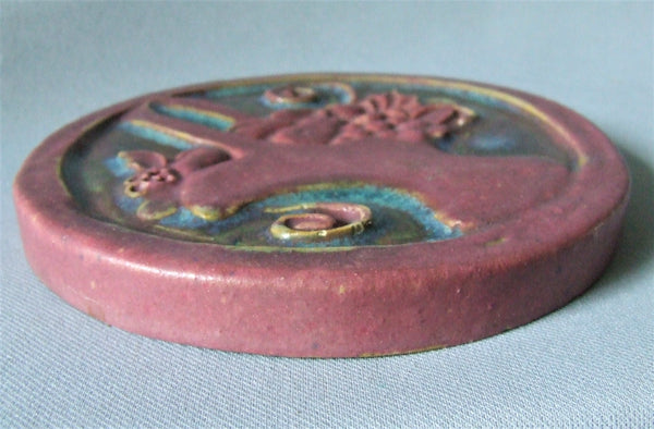 Fulper Pottery Tile Famille Rose Box Mark