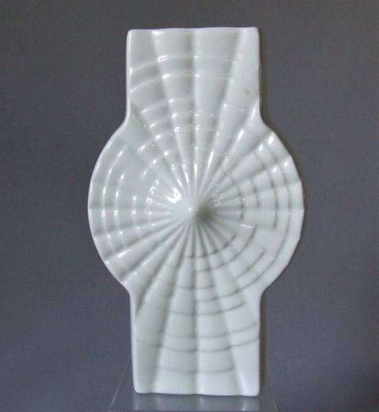 Winterling West German White Porcelain Op Art Vase
