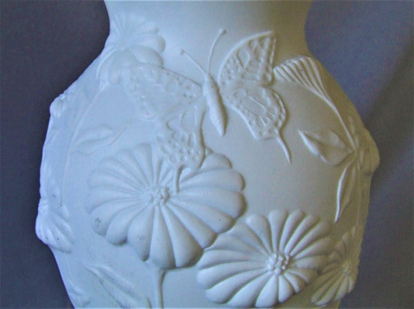 AK Kaiser West German White Bisque Porcelain Vase
